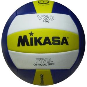 mikasa vso2000 sentetik deri voleybol topu - mavi-sarı-beyaz