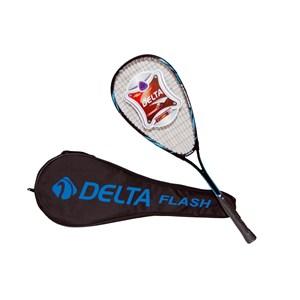 delta flash tek parça özel lux çantalı 27 squash raketi - mavi