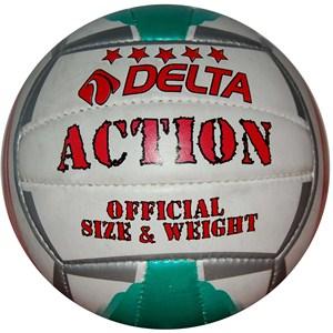 delta action el dikişli voleybol topu - kırmızı - beyaz - yeşil