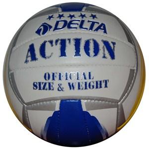 delta action el dikişli voleybol topu - sarı - beyaz - mavi
