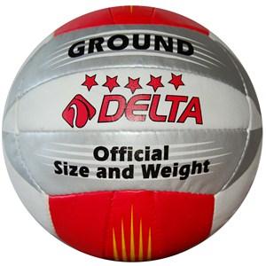 delta ground el dikişli voleybol topu - kırmızı - gümüş - beyaz
