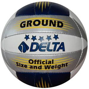 delta ground el dikişli voleybol topu - lacivert - gümüş - beyaz