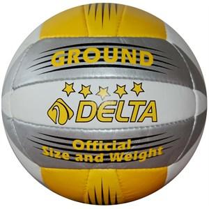 delta ground el dikişli voleybol topu - sarı - gümüş - beyaz