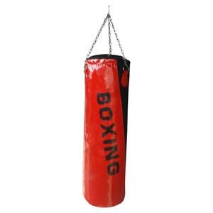 spor byfit boxing 90 cm x 30 cm kırmızı boks kum torbası - 90 x 30 cm - kırmızı