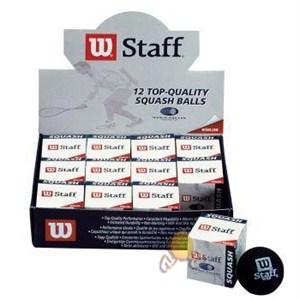 wilson staff tekli squash topu - t 6191 - sarı