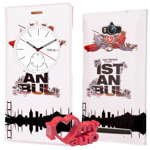 CoverZone Asus Zenfone Max Kılıf Desenli Quick İstanbul + 3d Araç Kokusu