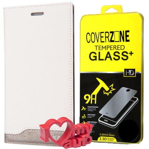 CoverZone Lg K5 Kılıf Vip Magnum + Kırılmaz Cam + 3d Araç Kokusu