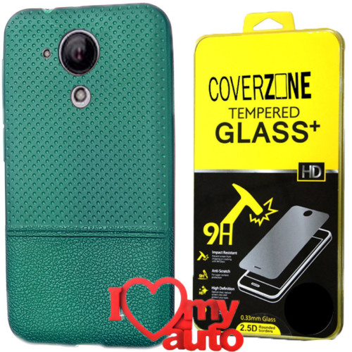 CoverZone Casper Via E1 Kılıf Dot Silikon Yeşil + Kırılmaz Cam + 3d Araç Kokusu