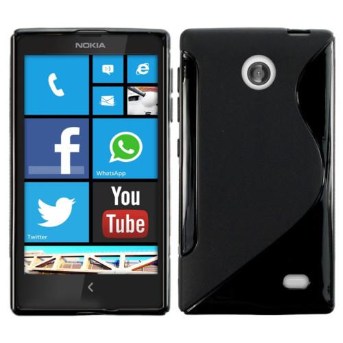 CoverZone Nokia X Kılıf Silikon S-Line Siyah