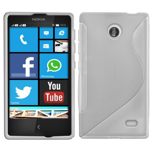 CoverZone Nokia X Kılıf Silikon S-Line Beyaz