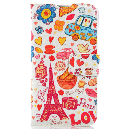 CoverZone LG L70 Kılıf Resimli Kapaklı Paris In Love