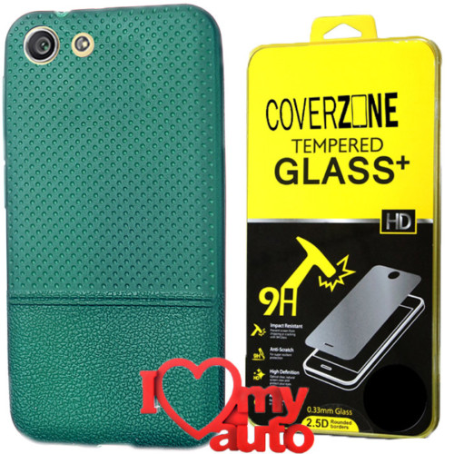 CoverZone Turkcell T70 Kılıf Dot Silikon Yeşil + Kırılmaz Cam + 3d Araç Kokusu