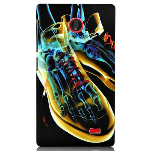 CoverZone Nokia X Kılıf Sert Arka Kapak Ayakkabı