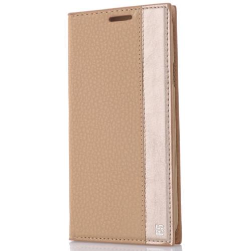 CoverZone Samsung Galaxy E5 Kılıf Kapaklı Magnum Gold
