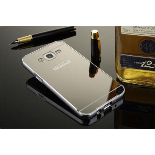 CoverZone Samsung Galaxy A7 Kılıf Aynalı Kapak