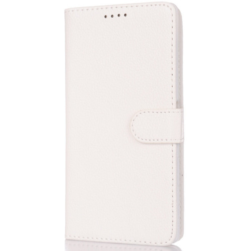 CoverZone Samsung Galaxy E7 Kılıf Kart Gözlü Cüzdan Beyaz