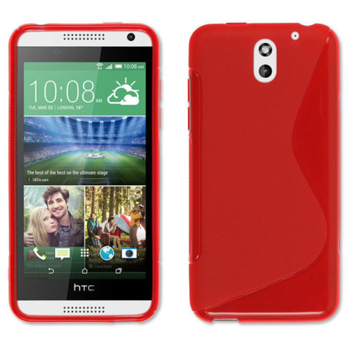 CoverZone HTC Desire 610 Kılıf Silikon S-Line Kırmızı