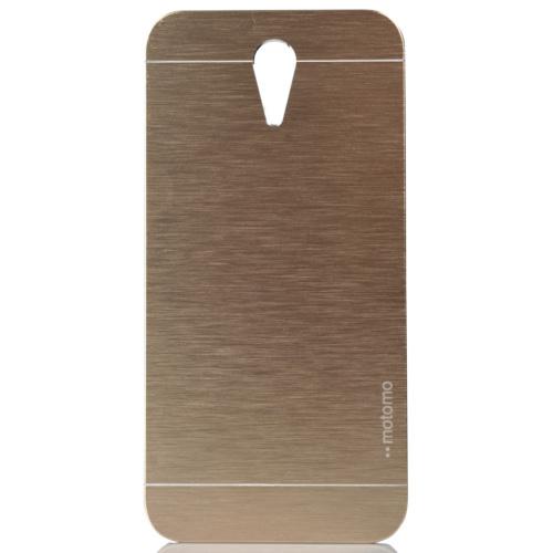 CoverZone HTC Desire 620 Kılıf Metalik Sert Arka Kapak Altın