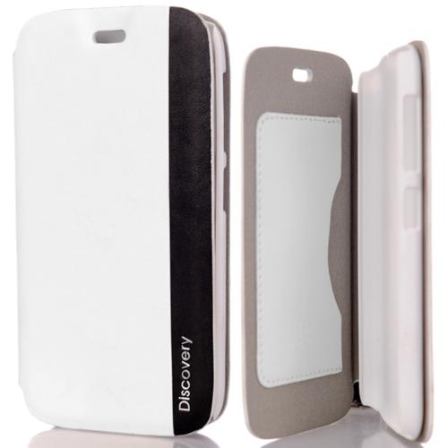 CoverZone General Mobile Discovery Kılıf Fresh Kapaklı Beyaz