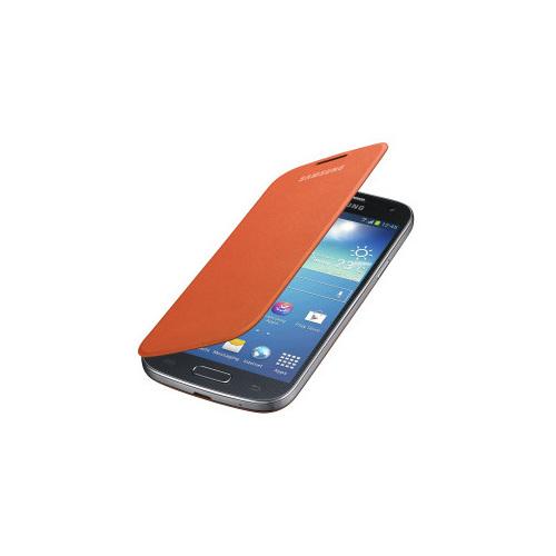 CoverZone Samsung Galaxy S4 Mini Kılıf Kapaklı Flip Cover Turuncu
