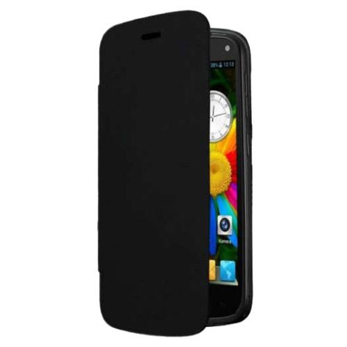 CoverZone General Mobile Discovery Kılıf Flip Cover Siyah