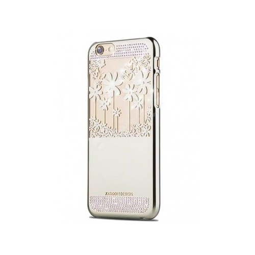 KNY JOYROOM Flower iPhone 6 / 6s Rubber Taşlı Kılıf -Grey