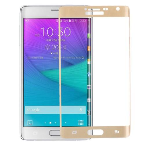 KNY Samsung Galaxy Note Edge Kavisli Kırılmaz Cam Ekran Koruyucu Gold