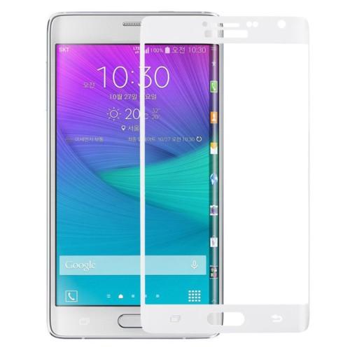 KNY Samsung Galaxy Note Edge Kavisli Kırılmaz Cam Ekran Koruyucu Beyaz
