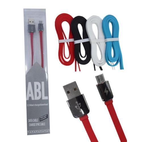 2.1A Hızlı Şarj Micro Usb Telefon Kablosu 1 Mt 4 Renk Uzun