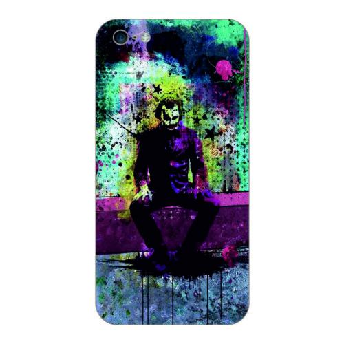 Bordo İphone 5S Kapak Kılıf Renkli Joker Baskılı Silikon