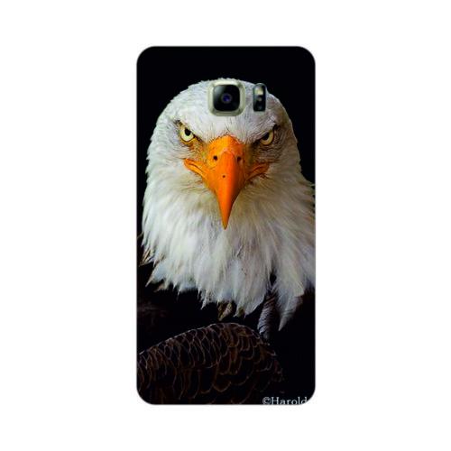 Bordo Samsung Galaxy S6 Kapak Kılıf Kartal Baskılı Silikon