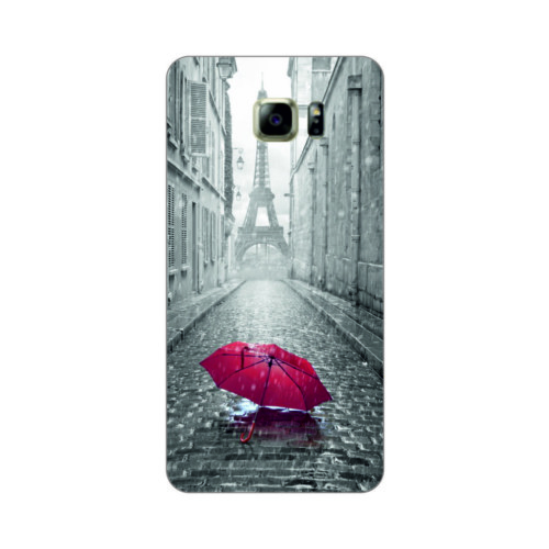 Bordo Samsung Galaxy S6 Kapak Kılıf Paris Baskılı Silikon