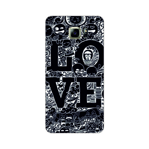 Bordo Samsung Galaxy S6 Kapak Kılıf Love Baskılı Silikon
