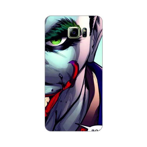 Bordo Samsung Galaxy S6 Edge Kapak Kılıf Joker Baskılı Silikon