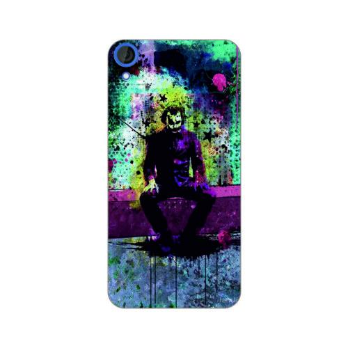Bordo Htc Desire 820 Kapak Kılıf Renkli Joker Baskılı Silikon