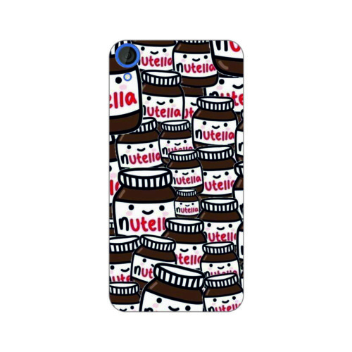 Bordo Htc Desire 828 Kapak Kılıf Nutella Baskılı Silikon