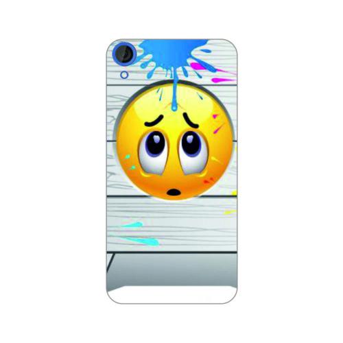 Bordo Htc Desire 626 Kapak Kılıf Emoji Baskılı Silikon