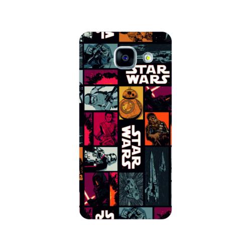 Bordo Samsung Galaxy A5 2016 Kapak Kılıf Star Wars Baskılı Silikon
