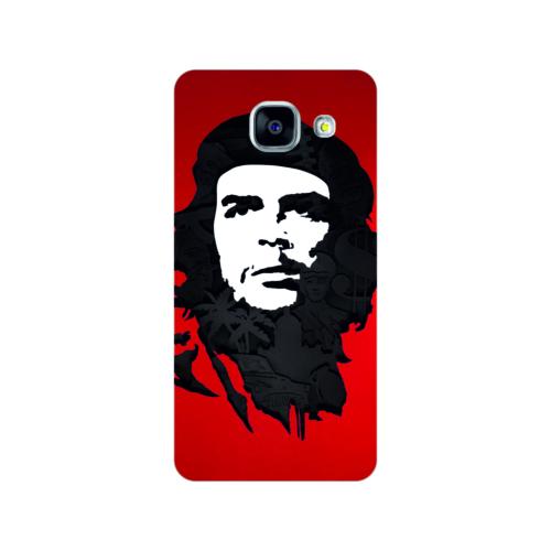 Bordo Samsung Galaxy A5 2016 Kapak Kılıf Che Guevara Baskılı Silikon