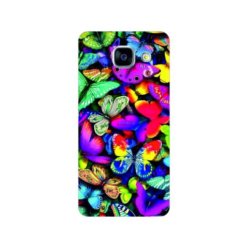Bordo Samsung Galaxy A5 2016 Kapak Kılıf Kelebek Baskılı Silikon