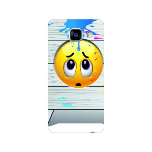 Bordo Samsung Galaxy A5 2016 Kapak Kılıf Emoji Baskılı Silikon