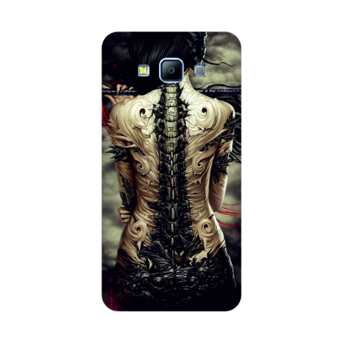 Bordo Samsung Galaxy E7 Kapak Kılıf Baskılı Silikon