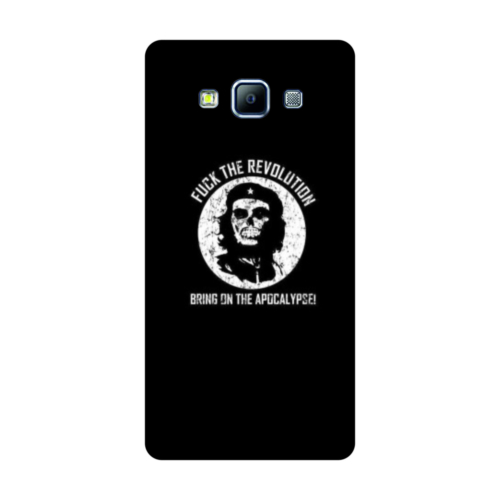 Bordo Samsung Galaxy Grand Max Kapak Kılıf Che Guevara Baskılı Silikon
