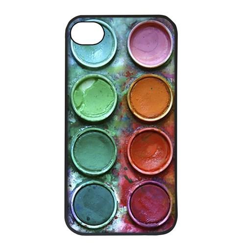 BuldumBuldum Boya Paleti Telefon Kılıfları - İphone 4/4S Kılıfı Siyah