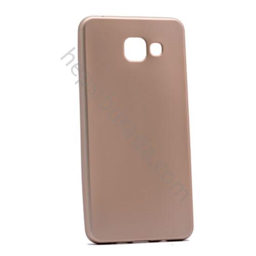 Case 4U Samsung A710 Galaxy A7 (2016) Premier İnce Silikon Kılıf Altın