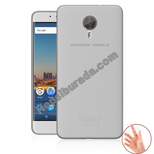 Teknomeg General Mobile Android One Gm5 Plus Şeffaf Silikon Kılıf
