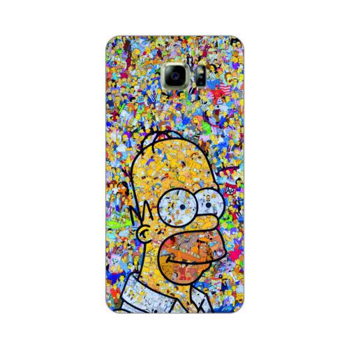Bordo Samsung Galaxy Note 5 Kapak Kılıf Simpson Baskılı Silikon