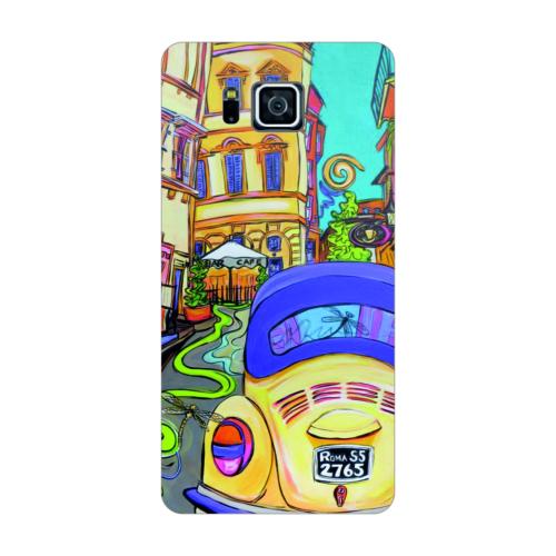 Bordo Samsung Galaxy Alpha Kapak Kılıf Renkli Vosvos Baskılı Silikon