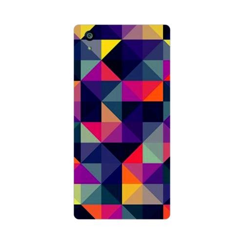 Bordo Sony Xperia Z5 Kapak Kılıf Renkler Baskılı Silikon