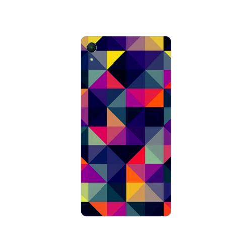 Bordo Sony Xperia M4 Aqua Kapak Kılıf Renkler Baskılı Silikon